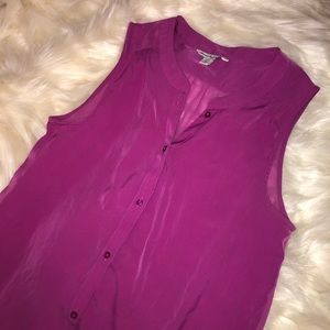 American Eagle Outfitters Tops - Women's Magenta Button Down Blouse💗